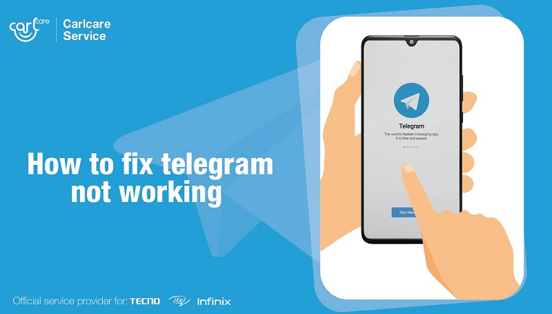 How to fix Telegram Not working-Carlcare